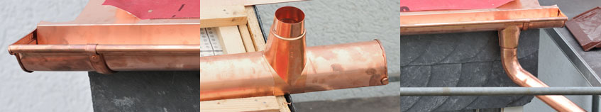 copper gutter installation