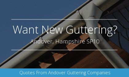 installation of gutters in Andover, Hampshire