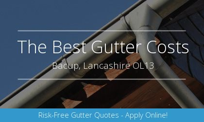 installation of gutters in Bacup, Lancashire
