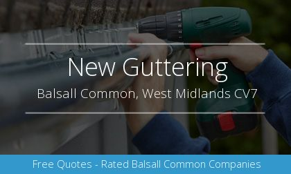 new guttering installation in Balsall Common, West Midlands