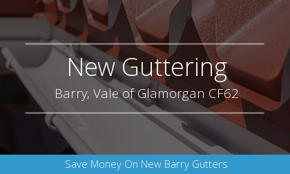 guttering installation in Barry, Vale of Glamorgan