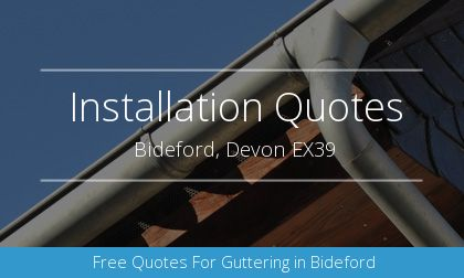gutter installation in Bideford, Devon