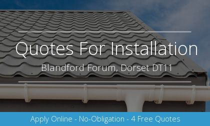 gutter installation in Blandford Forum, Dorset
