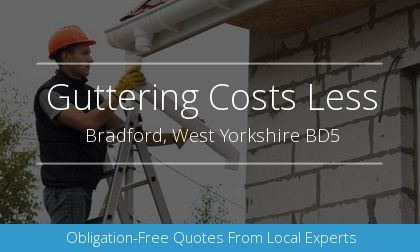 gutter installation in Bradford, West Yorkshire