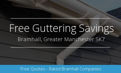installation of gutters in Bramhall, Greater Manchester