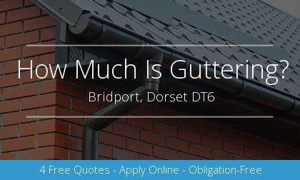 new gutter installation in Bridport, Dorset