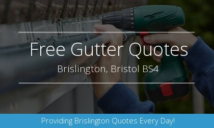 installation of gutters in Brislington, Bristol