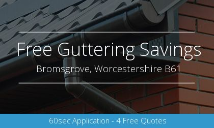 guttering installation in Bromsgrove, Worcestershire