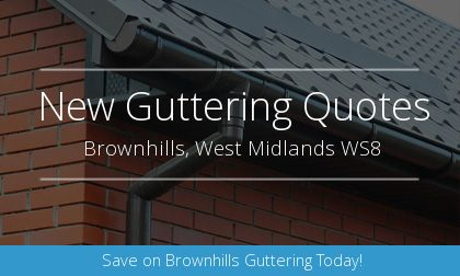 new gutter installation in Brownhills, West Midlands