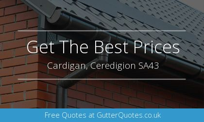 rain gutter installation in Cardigan, Ceredigion