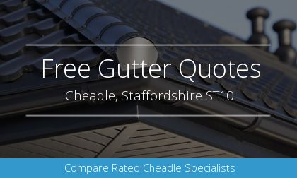guttering installation in Cheadle, Staffordshire