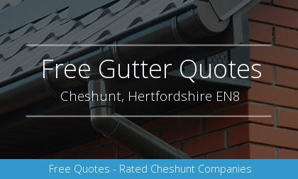 rain gutter installation in Cheshunt, Hertfordshire