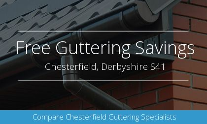 rain gutter installation in Chesterfield, Derbyshire