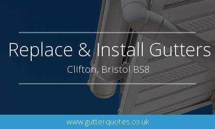 new gutter installation in Clifton, Bristol
