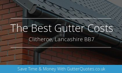 installation of gutters in Clitheroe, Lancashire