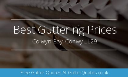 new guttering installation in Colwyn Bay, Conwy