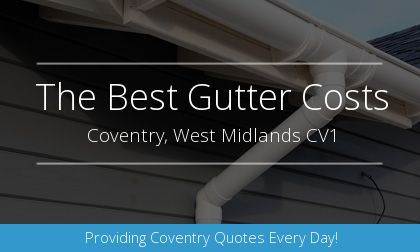 rain gutter installation in Coventry, West Midlands