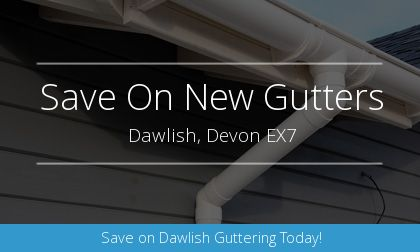 new gutter installation in Dawlish, Devon