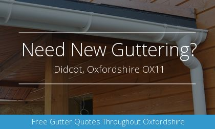 new gutter installation in Didcot, Oxfordshire