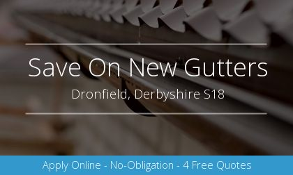 gutter installation in Dronfield, Derbyshire