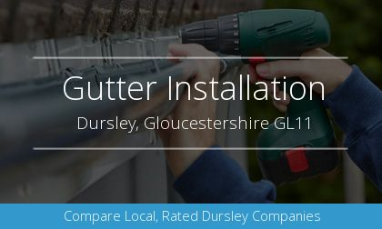guttering installation in Dursley, Gloucestershire
