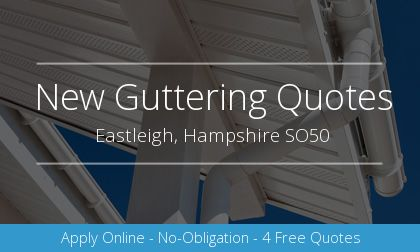 rain gutter installation in Eastleigh, Hampshire