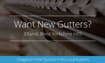 guttering installation in Elland, West Yorkshire