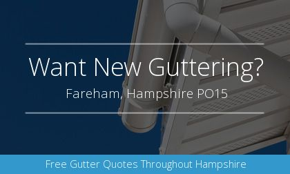 new guttering installation in Fareham, Hampshire