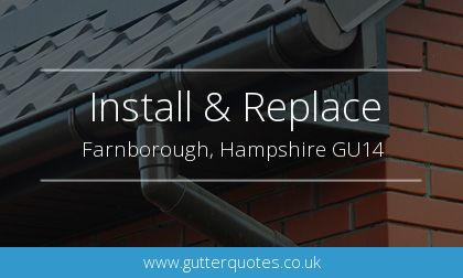 rain gutter installation in Farnborough, Hampshire