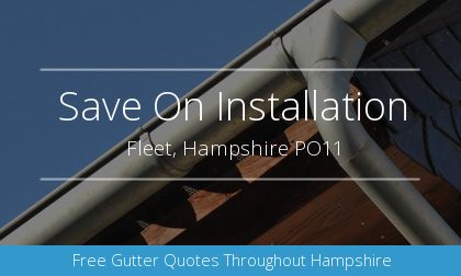 rain gutter installation in Fleet, Hampshire
