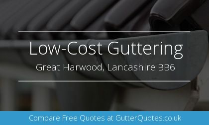 new guttering installation in Great Harwood, Lancashire