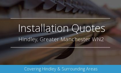 gutter installation in Hindley, Greater Manchester