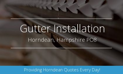 installation of gutters in Horndean, Hampshire