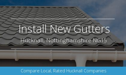 new gutter installation in Hucknall, Nottinghamshire