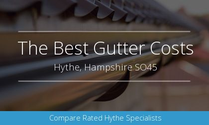 new gutter installation in Hythe, Hampshire