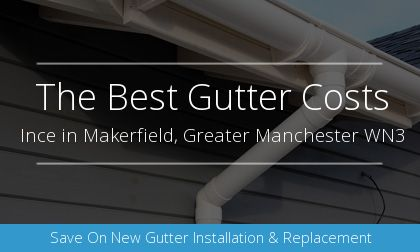 new gutter installation in Ince in Makerfield, Greater Manchester