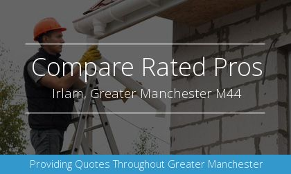 rain gutter installation in Irlam, Greater Manchester