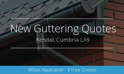 new guttering installation in Kendal, Cumbria