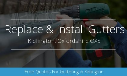 guttering installation in Kidlington, Oxfordshire