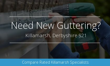 gutter installation in Killamarsh, Derbyshire