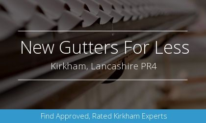 new guttering installation in Kirkham, Lancashire