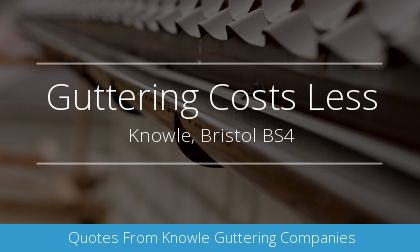 gutter installation in Knowle, Bristol