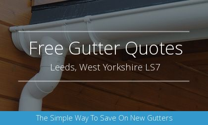 new gutter installation in Leeds, West Yorkshire
