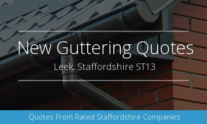 new gutter installation in Leek, Staffordshire