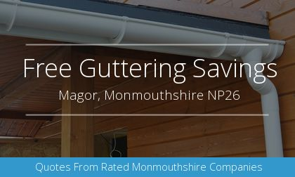 gutter installation in Magor, Monmouthshire