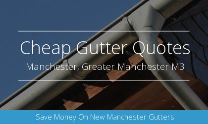 gutter installation in Manchester, Greater Manchester