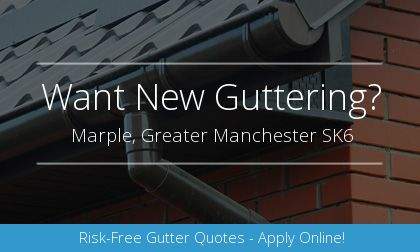new gutter installation in Marple, Greater Manchester