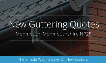 installation of gutters in Monmouth, Monmouthshire