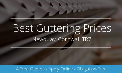 gutter installation in Newquay, Cornwall
