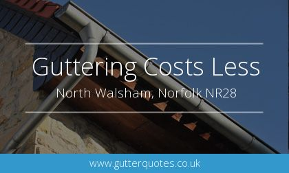 rain gutter installation in North Walsham, Norfolk